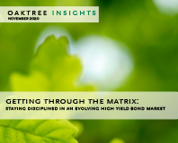 Getting Through the Matrix: Staying Disciplined in an Evolving High Yield Bond Market